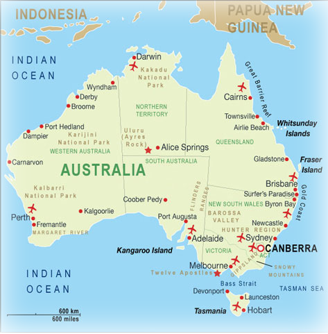 the australian federation consists of six states and two territories the largest state western australia is about the same size as western europe