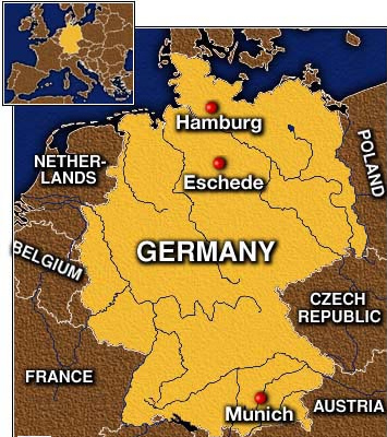 to the south by austria and switzerland and to the west by france luxembourg belgium and the netherlands the territory of germany covers 357021